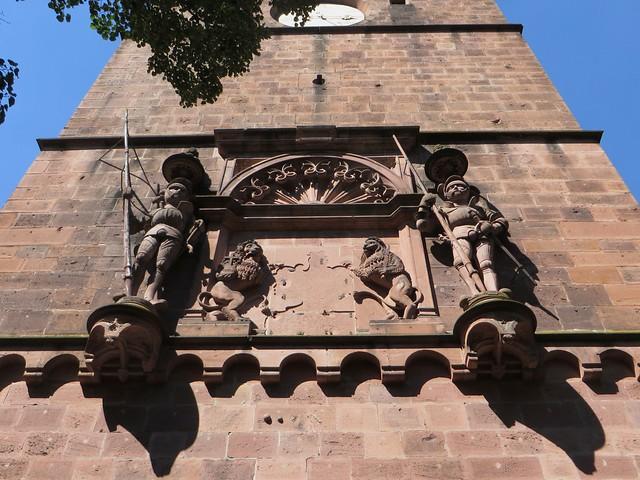Les géants de la Torturm (1534-1536), château des électeurs palatins, Heidelberg, Bade-Wurtemberg, République fédérale d'Allemagne.