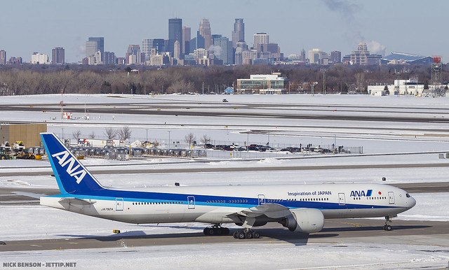 ANA 777-300ER JA792A at MSP; Bloomington, MN