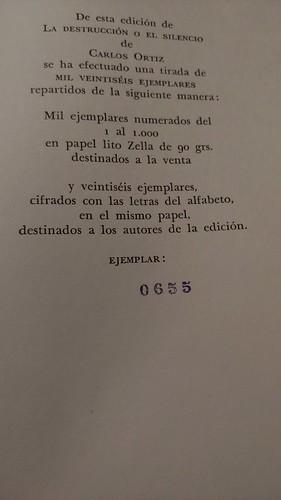 «La destrucción o el silencio», Carlos Ortiz (Bobi)