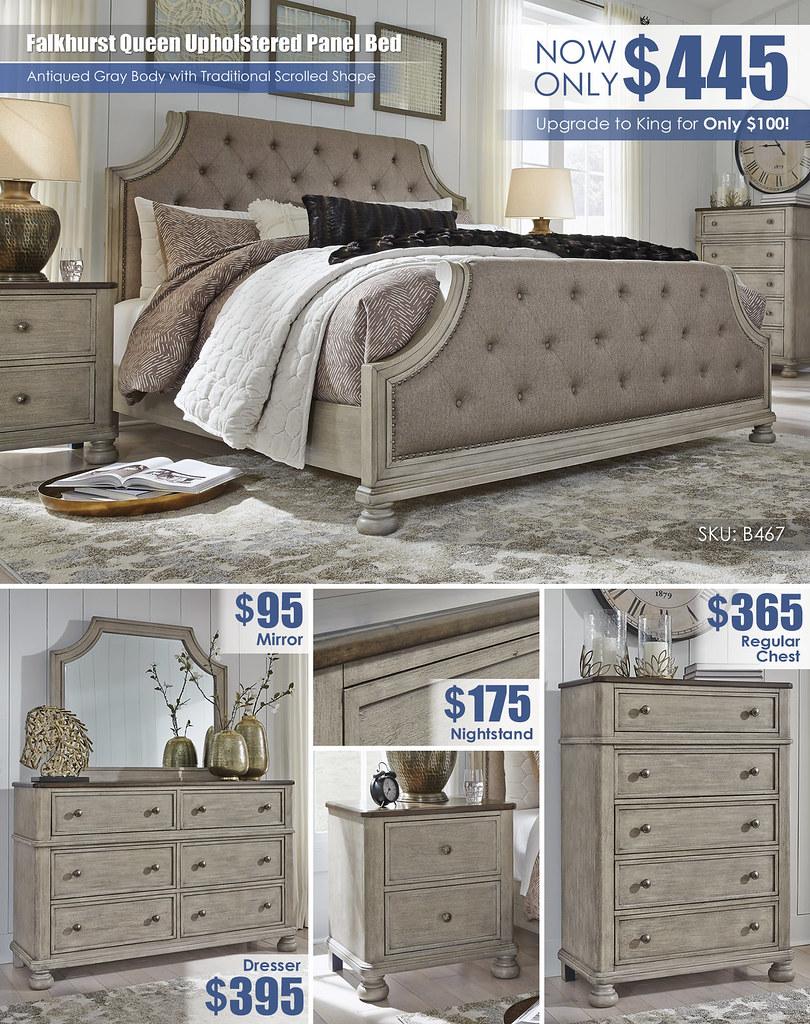 Falkhurst Queen Upholstered Bedroom A La Carte_B467
