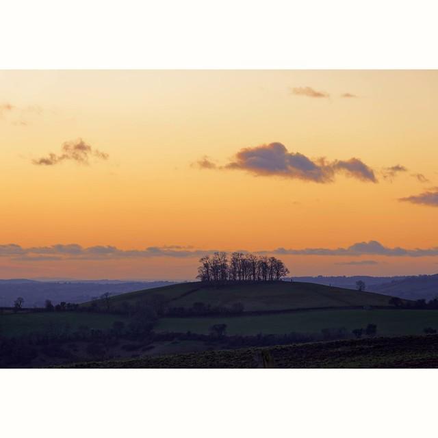 Sunset over Kelston roundhill near Bath .... 🌅 . Winter 2021
