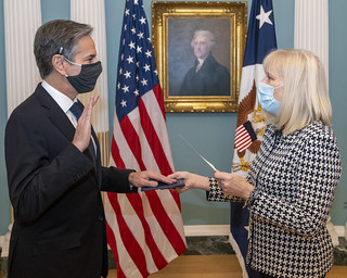 Secretary Blinken is Sworn in as Secretary of State | by U.S. Department of State