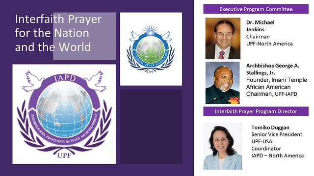 USA-2021-01-07-IAPD-USA Has Convened 120 Faith Leaders in Its Weekly Online Prayer Series