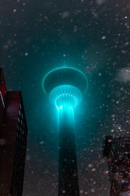 Downtown fog & Calgary Tower