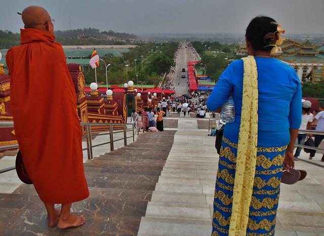 MYANMAR ,Burma , Naypyidaw die neue , ganz spezielle Hauptstadt, rund um die neue, gigantische Friedenspagode-Uppatasanti-Pagode, 78162/13344