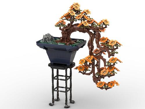 Cascade Fall 4K: Prunus LEGOfolia cultivar of 'DreamDynamic'