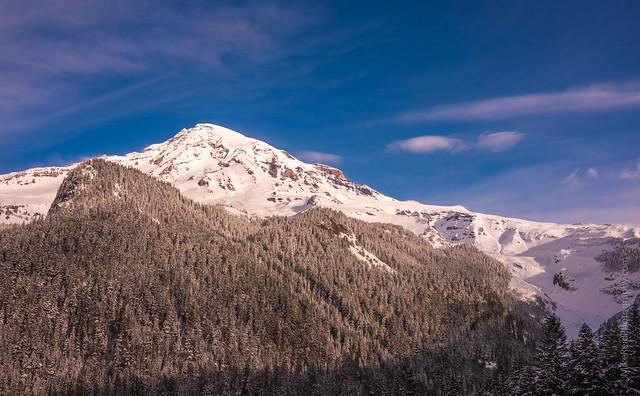 Mount Rainier and Muir Snowfield in Winter