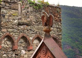 Eagle Statue from the Burg Reichenstein Castle