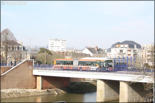 Irisbus Agora L GNV – Setram (Société d'Économie Mixte des TRansports en commun de l'Agglomération Mancelle) n°779