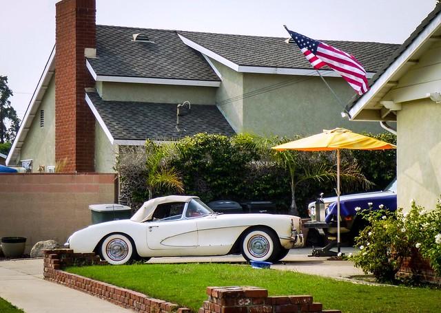 Corvette C1 and Rolls Royce