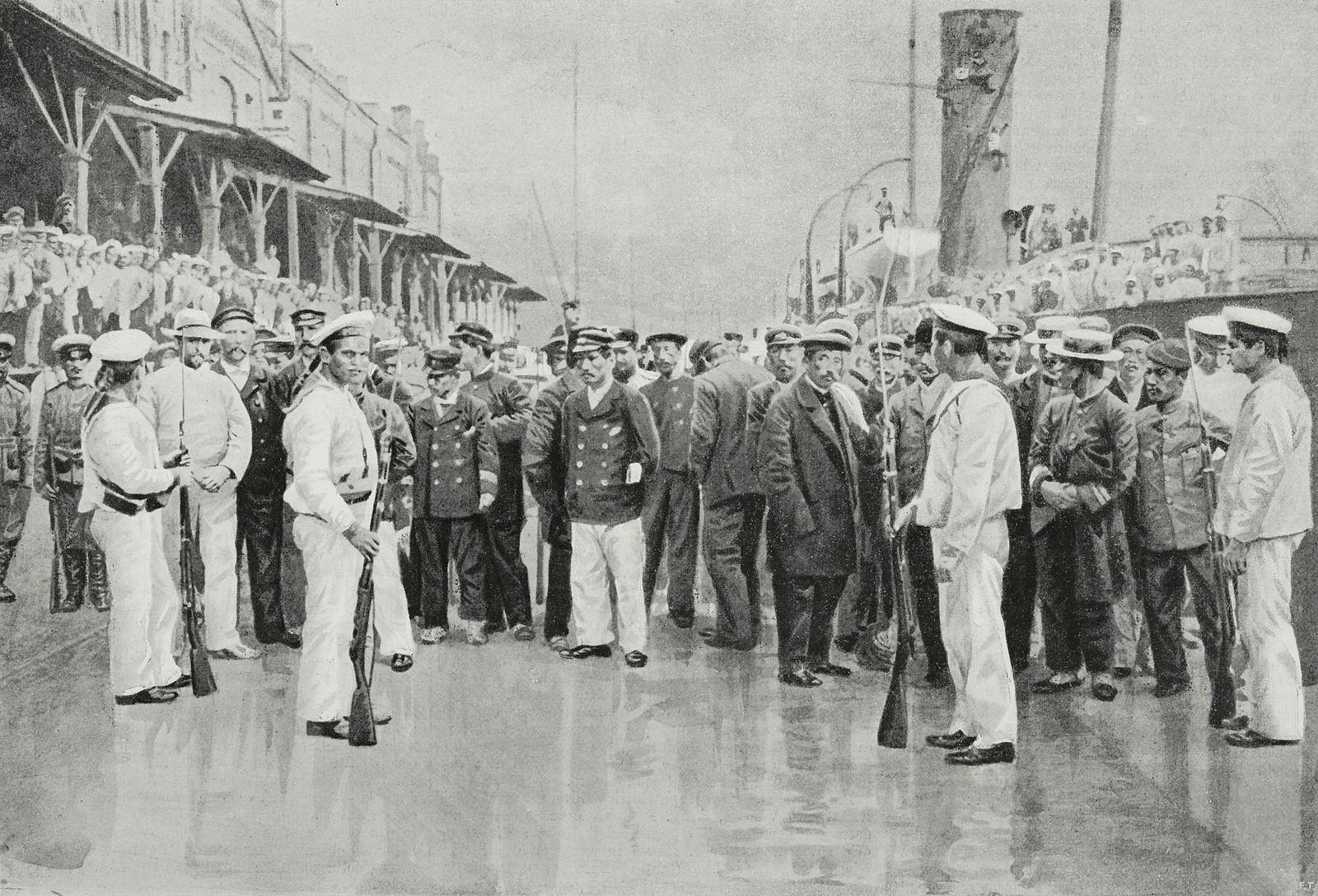 Японские военнопленные во Владивостоке. 1904-1905