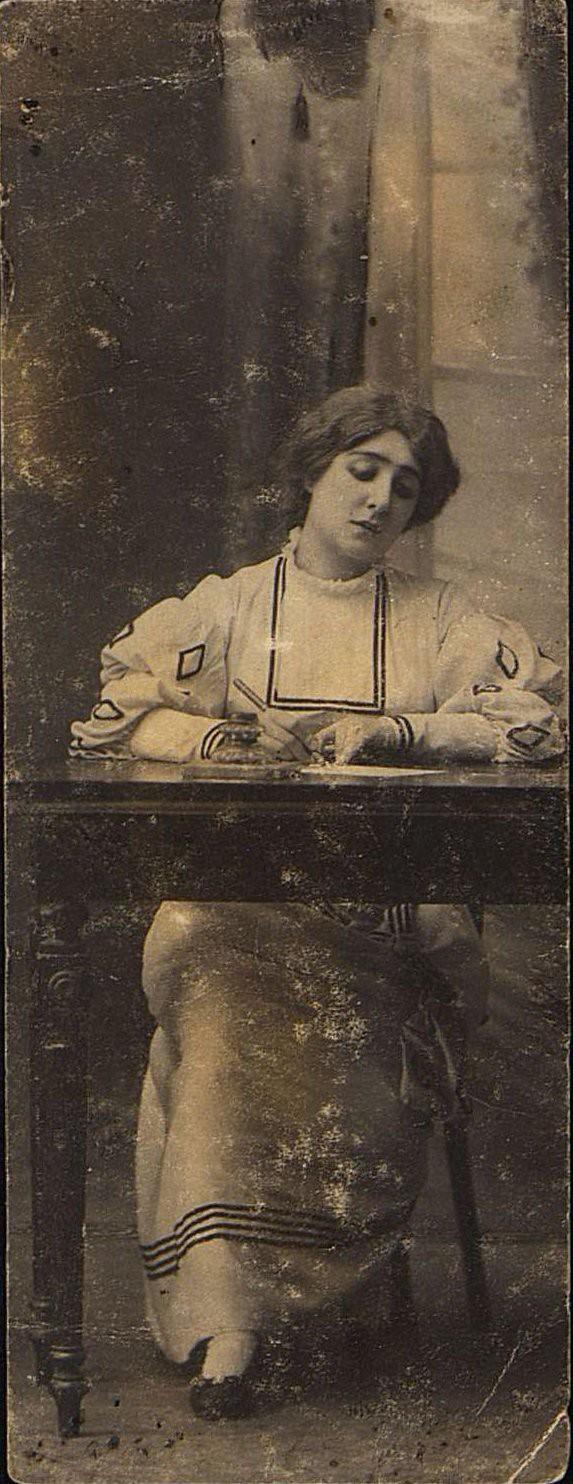 Чалеева-Бельская Елизавета Ивановна, актриса, в роли Луизы в пьесе Ф. Шиллера Коварство и любовь. 1907