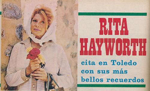 Rita Hayworth en Toledo en julio de 1968. Foto de Julián Torremocha publicada en Semana el 13 de julio de aquel año.
