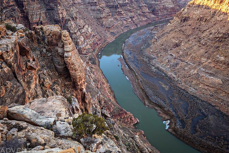 Looking Down into Narrow Canyon