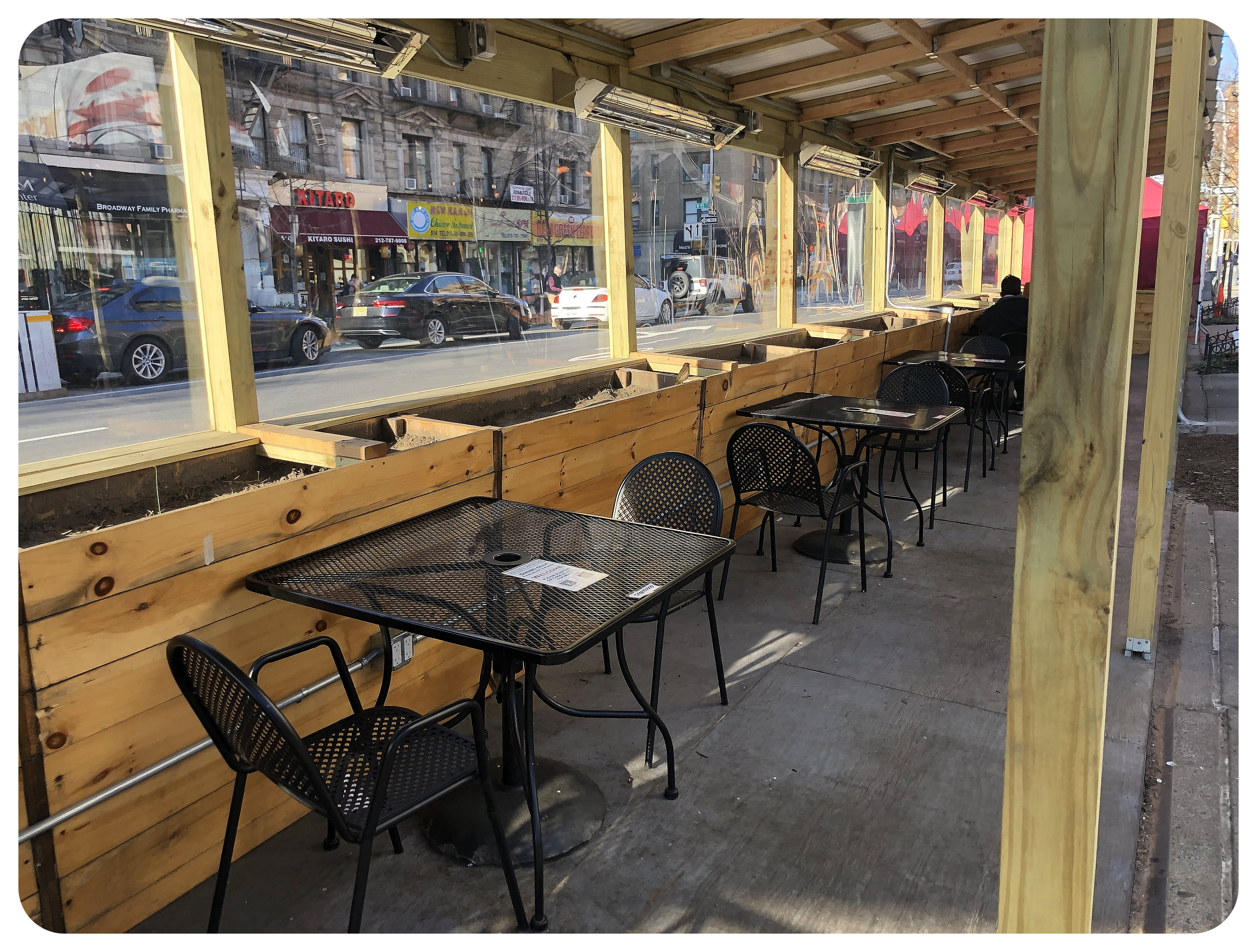NYC outdoor seating covid