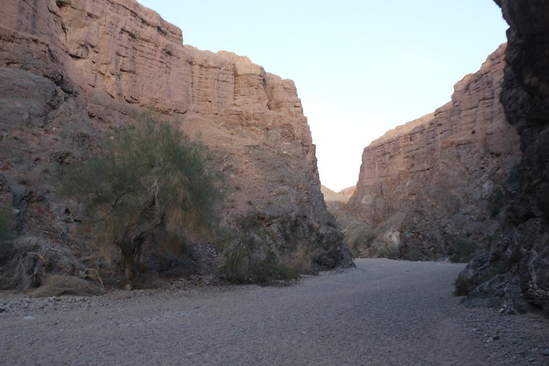 As we continue downhill in Painted Canyon, the walls gradually become an easily-eroded sandstone