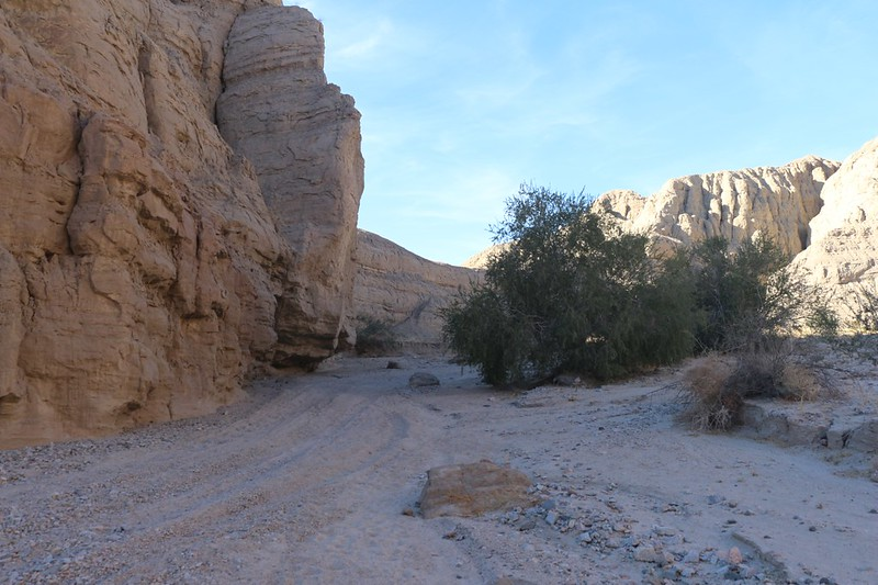 Technically this canyon is closed to vehicles (part of the Wilderness) but the big stones in the parking lot got moved