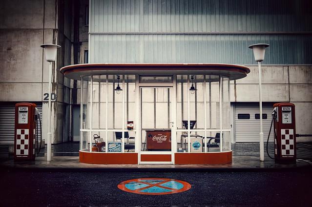 Historische Tankstelle...