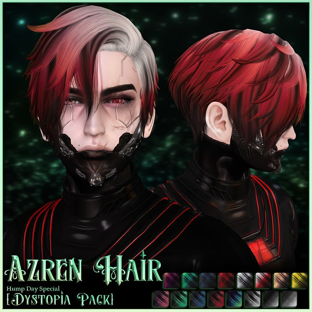 Humpday Sale ✨ Azren Hair - Dystopia color pack