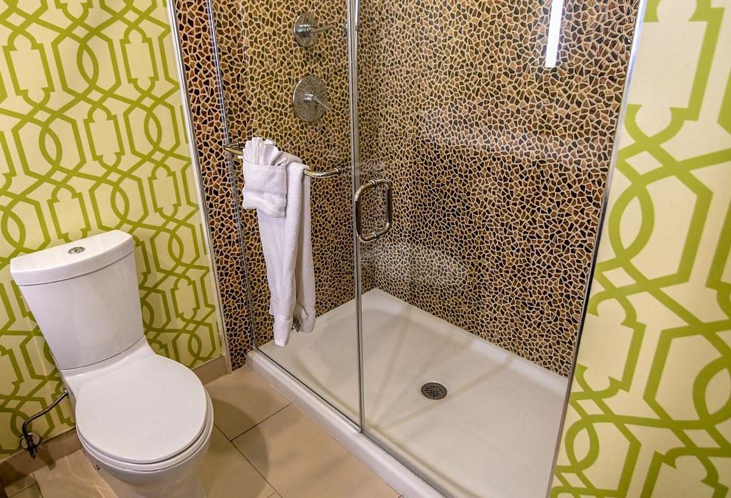 Hotel Indigo shower bathroom