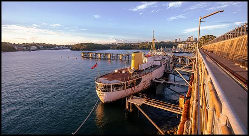 coalloader coalloadercentreforsustainability waveton ballshead ballsheadbay sydney harbour sydneyharbour historic historiccoalloader sscapedon sunset