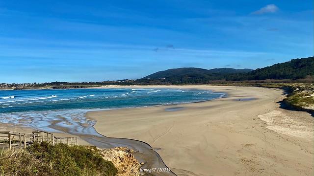 La playa de San Jorge, en la costa de Galicia.