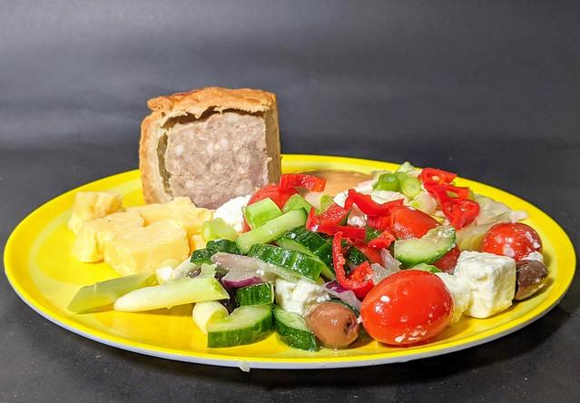 Melton Mowbray Pork Pie and Cheese Salad