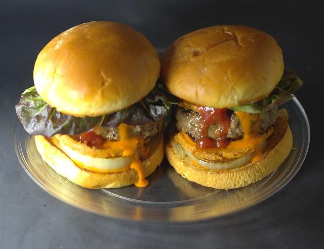 Homemade 'dirty' Burger Towers