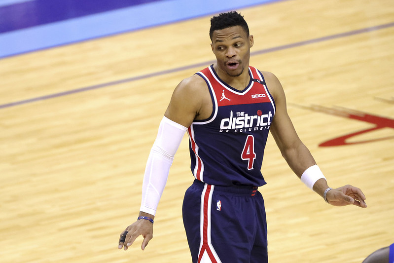Russell Westbrook繳出19分11籃板7助攻成績。(達志影像)