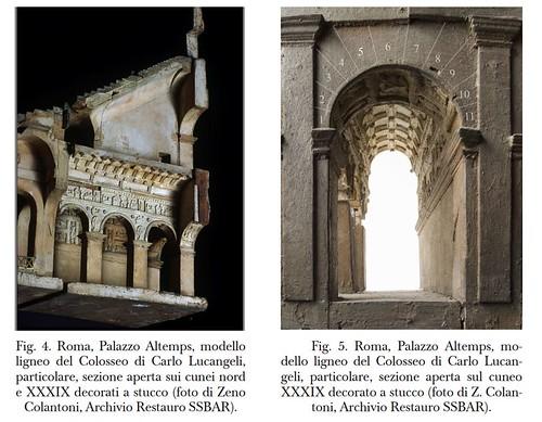 ROMA ARCHEOLOGICA & RESTAURO ARCHITETTURA 2021. IL MODELLO IN LEGNO DEL COLOSSEO DI CARLO LUCANGELI (1796-1810); in: Pietro Ercole Visconti (1813/1851) [in PDF]; Cinzia Conti (2001) [in PDF] & C. Conti & S. Orlandi (2013) [in PDF].