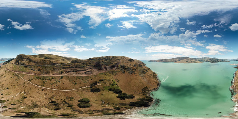 Lyttleton-Sumner Road, NZ - view as single image for 360VR