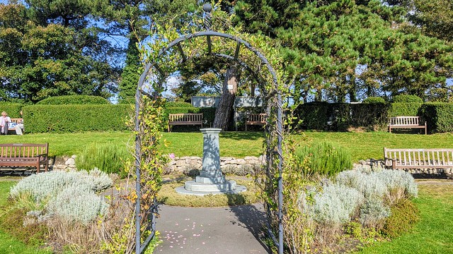 Green arch at Lowther Gardens, Lytham. Lancashire