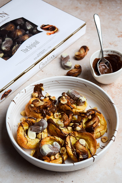 Mini Chocolate Truffle & Hazelnut Dutch Baby Pancakes