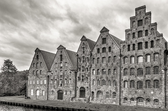 Salt warehouses Lübeck Germany