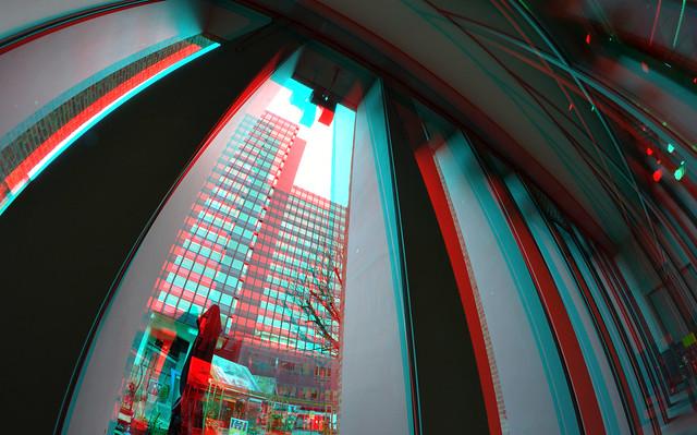 Entrance Donner Binnenwegplein Rotterdam 3D Fish-eye