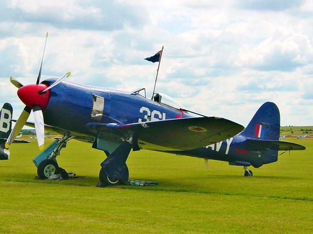 G-CEBL 1953 Hawker Sea Fury FBll Duxford 10.07.04