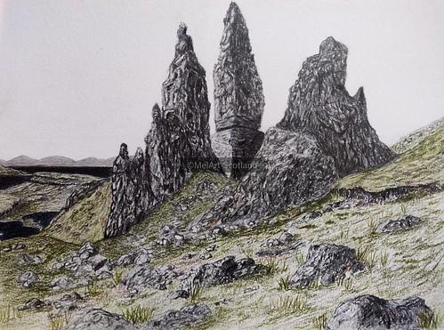 Old Man of Storr. From Artist Spotlight: Melanie Whitson, MelArt Scotland