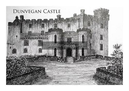 Dunvegan Castle. From Artist Spotlight: Melanie Whitson, MelArt Scotland
