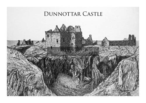 Dunottar Castle. From Artist Spotlight: Melanie Whitson, MelArt Scotland