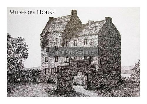 Midhope House. From Artist Spotlight: Melanie Whitson, MelArt Scotland
