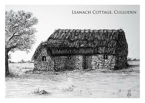 Leanach Cottage, Culloden. From Artist Spotlight: Melanie Whitson, MelArt Scotland