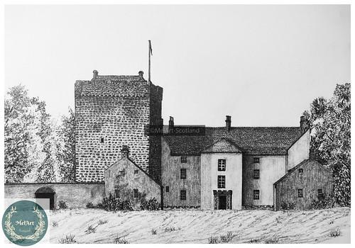 Kilvarock Castle. From Artist Spotlight: Melanie Whitson, MelArt Scotland