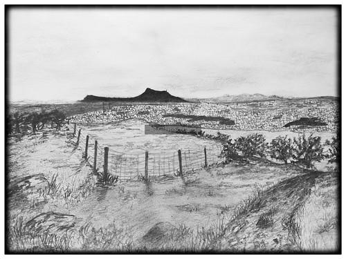 The view over Edinburgh. From Artist Spotlight: Melanie Whitson, MelArt Scotland