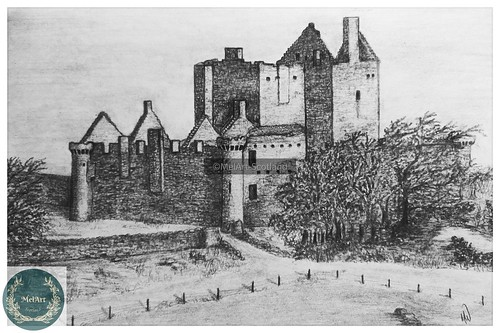 Craigmillar Castle. From Artist Spotlight: Melanie Whitson, MelArt Scotland