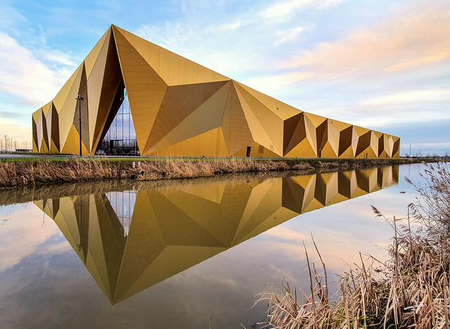 The Dutch Vault, the new building of Royal Dutch Mint (Koninklijke Nederlandse Munt), in Houten, the Netherlands