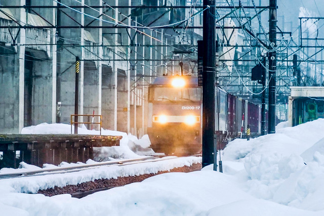 Locomotive in snow area