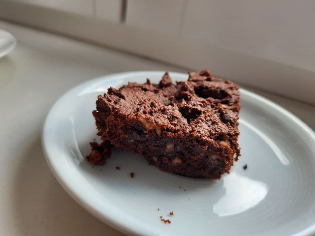 Homemade healthy brownies - Hausgemachte,gesunde Brownies