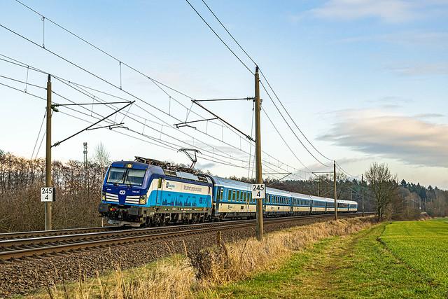 Muessen Feldweg EC 176 Praha hl n - HHa 193 291-2 Linda