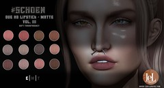 #SCHOEN - HD Due Lipstick Matte - Vol. III