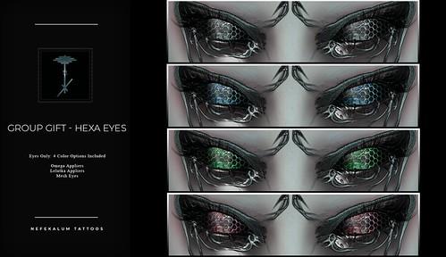 """Nefekalum Tattoos - GROUP GIFT """"Hexa Eyes"""""""
